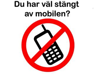 Sangt av mobilen?